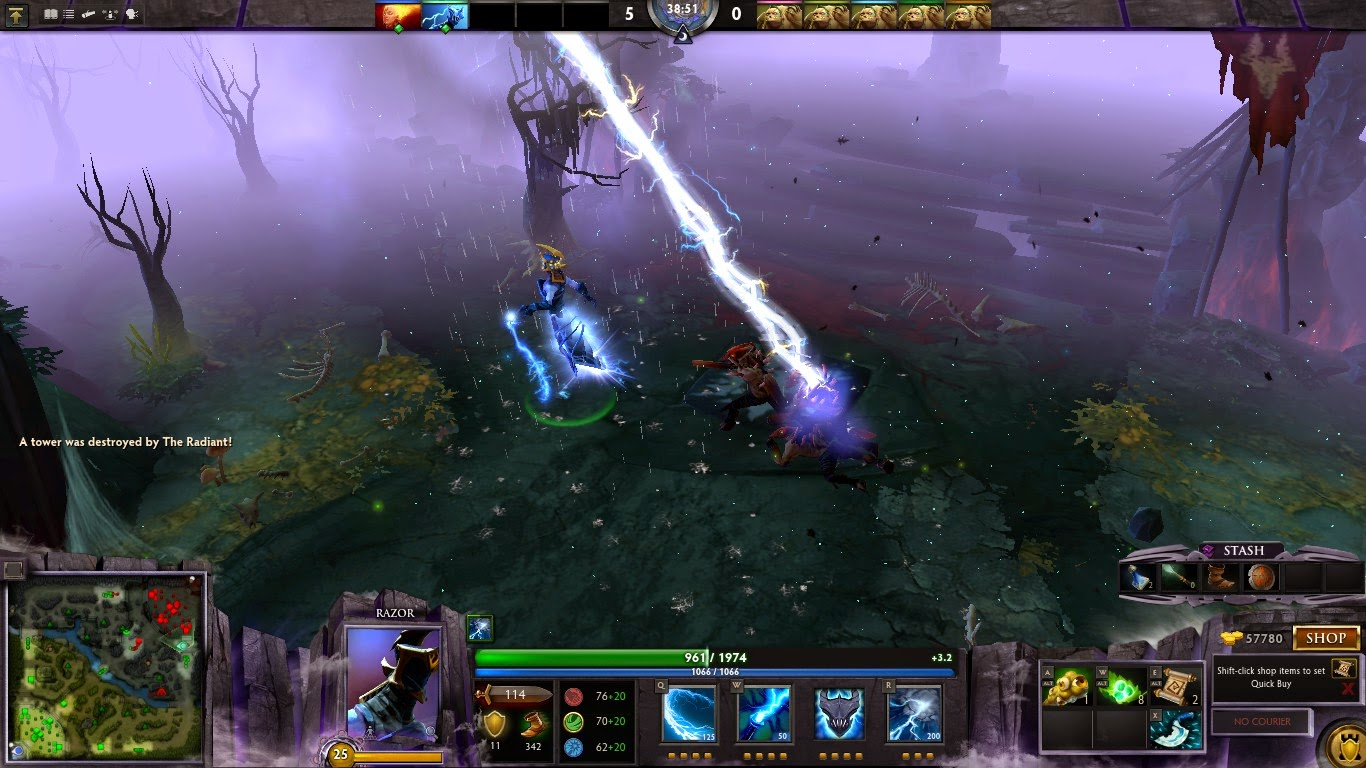 Dota 2 Mod Razor Golden Severing Crest Immortal Items