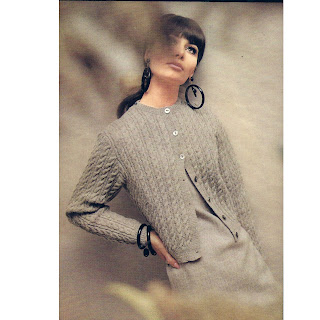 Classic Cable Cardigan Knitting Pattern