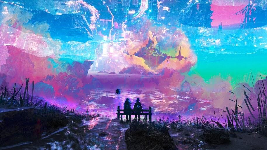 Fantasy, Digital Art, Sky, Landscape, 4K, #6.1243