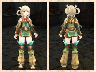 狩人の服・水色1