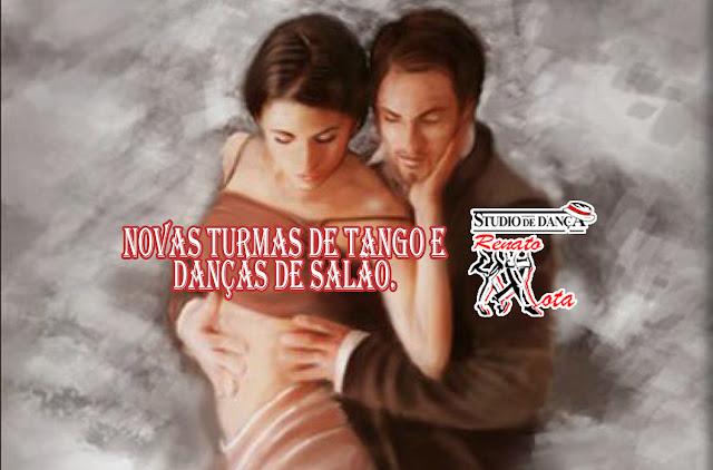 Nova turma de Tango para iniciantes às quintas-feiras com inicio dia 18/10 das 19h30 às 20h30.