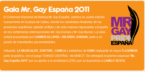 Gala Mr. Gay España 2011 en la Plaza de Callao