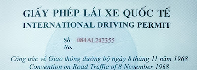 giấy phép lái xe quốc tế