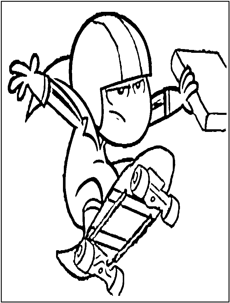 kick buttowski coloring pages - desenhos do kick buttowski para imprimir e colorir