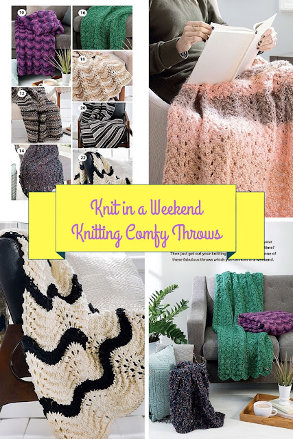 Knitting Patterns for Comfortable Throws Easy to Knit For family and friends in a weekend
