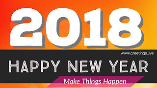 Make Things Happen New Year 2018 greetings