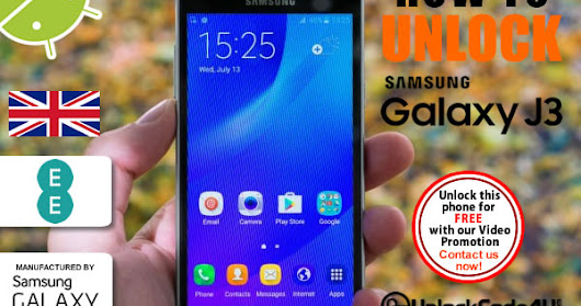 How to Network Unlock Samsung Galaxy J3 from EE Network