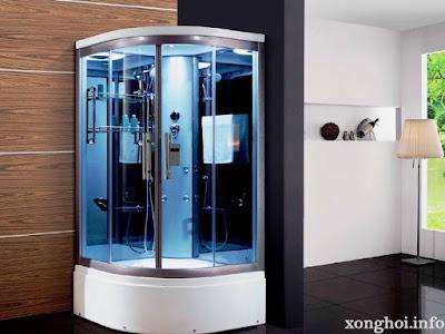 phòng xông dành cho không gian tắm tiết kiệm diện tích