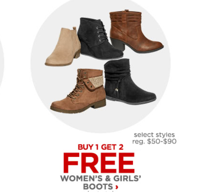 b73628783b24 JCPenney Boots Buy 1 Get 2 Free Sale! 3 Pairs of Girls  Boots  45