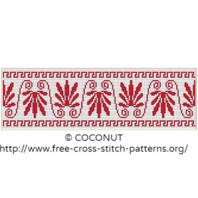 Border pattern, Free and easy printable cross stitch pattern Free