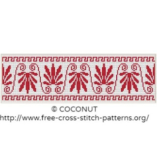 Border pattern, Free and easy printable cross stitch pattern