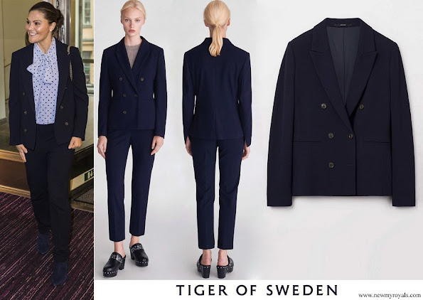 Crown Princess Victoria wore Tiger of Sweden Molena Blazer