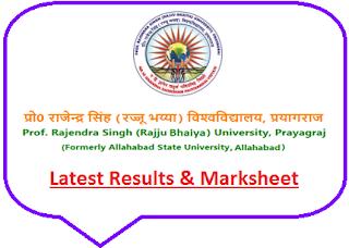 Rajendra Singh University Results 2019