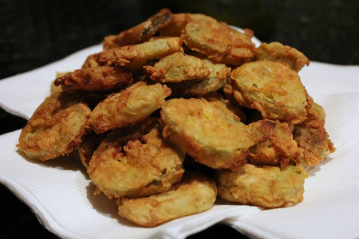 Pile of Fried Pickles
