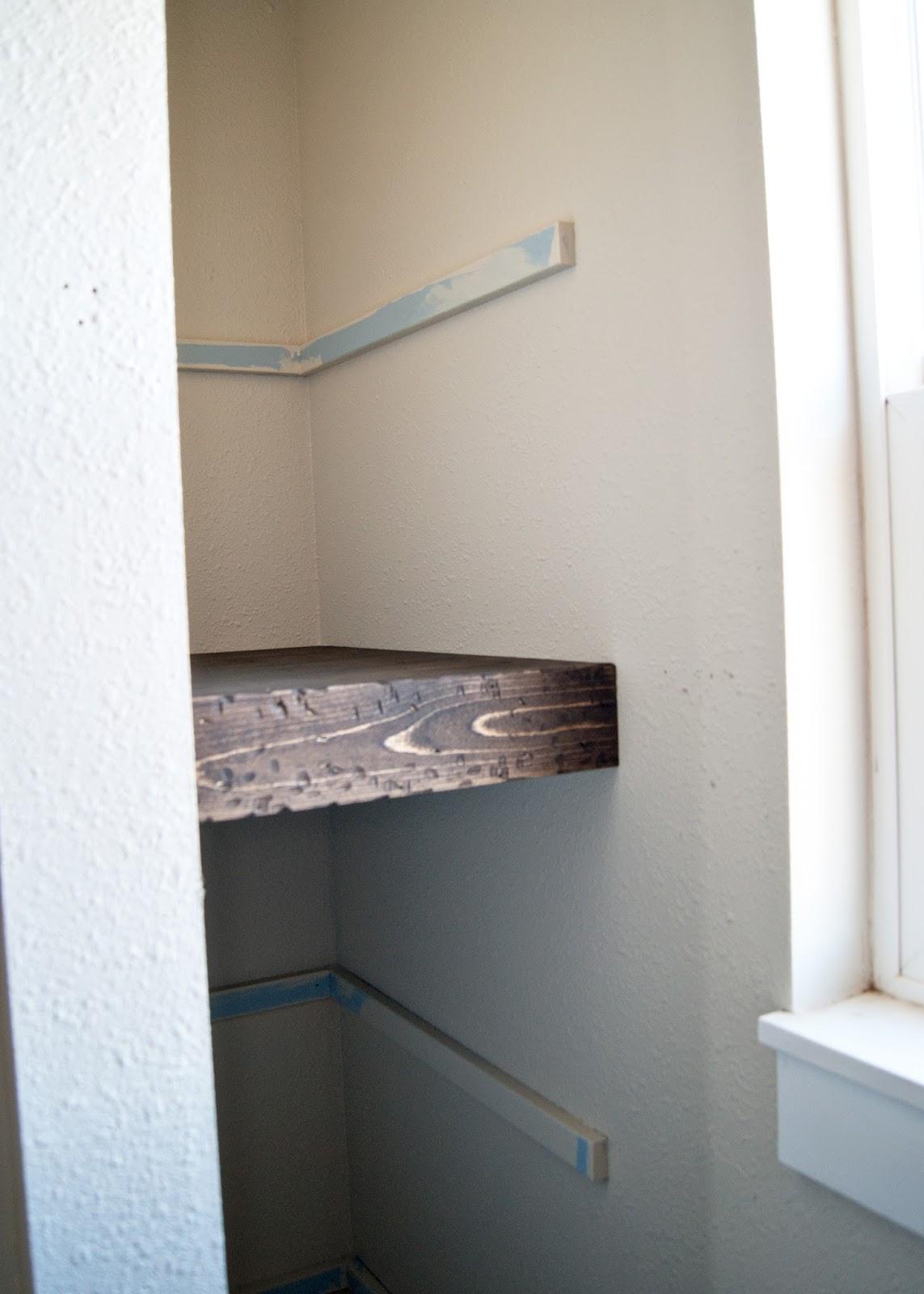 Project Kid S Bathroom Diy Chunky Wood Floating