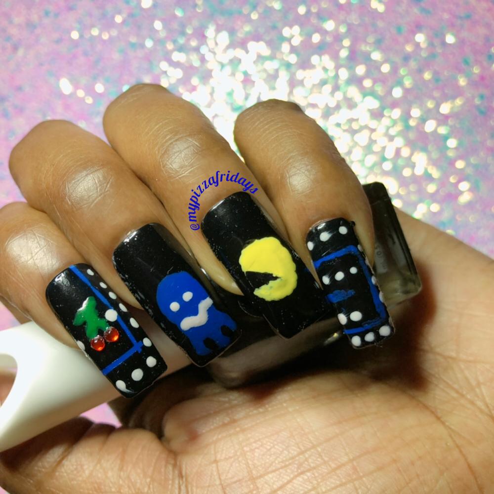 Pac-Man Nail Art Tribute