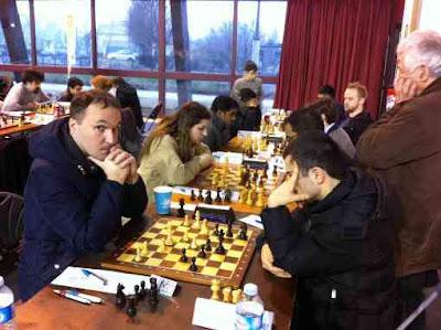 Ronde 1: Le grand-maître Nikita Maiorov (2511) a battu logiquement son adversaire du jour, le maître Fide français Hayk Mirimanian (2285) - Photo  © Chess & Strategy