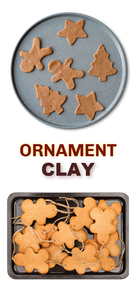 GINGERBREAD CLAY RECIPE: Make tree ornaments that smell just like Christmas! #gingerbread #gingerbreadclay #gingerbreadclayrecipe #gingerbreadrecipe #gingerbreadornaments #gingerbreadornamentrecipe #ornamentsdiy #ornaments #kidmadeornaments #christmasornaments #christmasornamentsdiy
