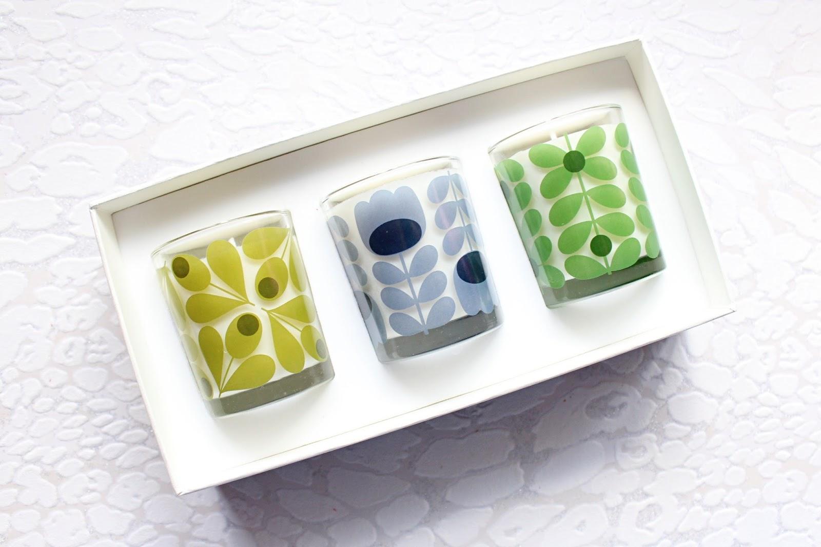 Orla Kiely Mini Candle Gift Set