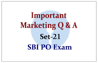 SBI PO Exam 2015- Important Marketing Questions