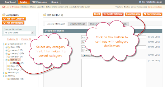 How to Copy/Paste, Move or Duplicate Magento Category
