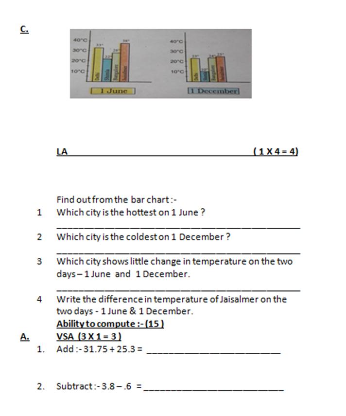 86 Maths Worksheet For Class 5 Kv