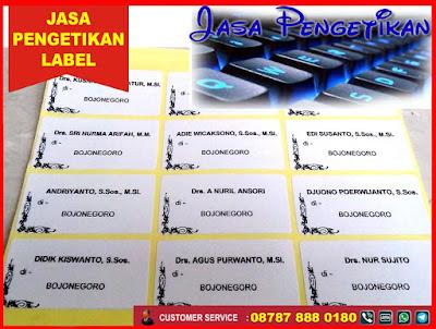 jasa pengetikan nama print label