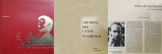 MANOLITO DE MARÍA, JUAN TALEGA, PERRATE DE UTRERA, LA PIRIÑACA, EL NEGRO DEL PUERTO, JOSÉ MENESE, EL LEBRIJANO, MANUEL DE ANGUSTIAS, SANTIAGO DONDAY, DIEGO DEL GASTOR, JOSELERO DE MORÓN... ARCHIVO DEL CANTE FLAMENCO DE VERGARA