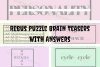Rebus Puzzle Brain Teasers with Answers
