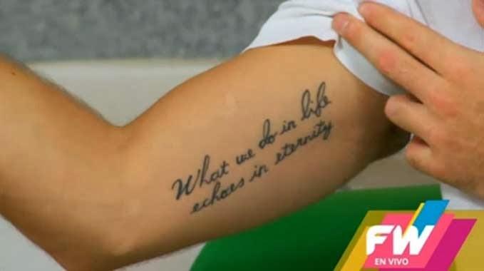 Serial Violetta Peter Lanzani I Jego Tatuaż