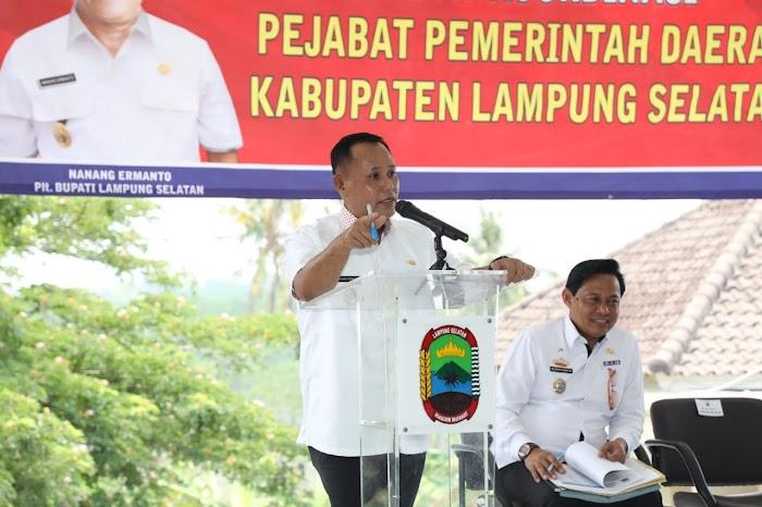 Plt Nanang Ermanto,Himbau Opd tingkatkan Pad,pemkab Lamsel.