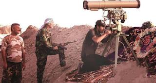 القوة الصاروخية التابعة للواء 28  في الحشد الشعبي تدك مواقع داعش بالقرب من تل صفوك