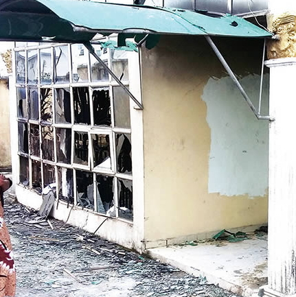 lagos prophetess son burn down buildings