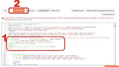 Blogger'da html ile yazı başlığı kodu düzenlenmiş hali