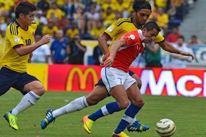 Chili Berhasil Menekuk Lutut Skuad Kolombia Dengan Skor (2-0)