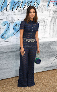 Jenna Coleman in beautiful Blue See Through Jumpsuit ~ bollycelebs.in Exclusive Celebrity Pics 009