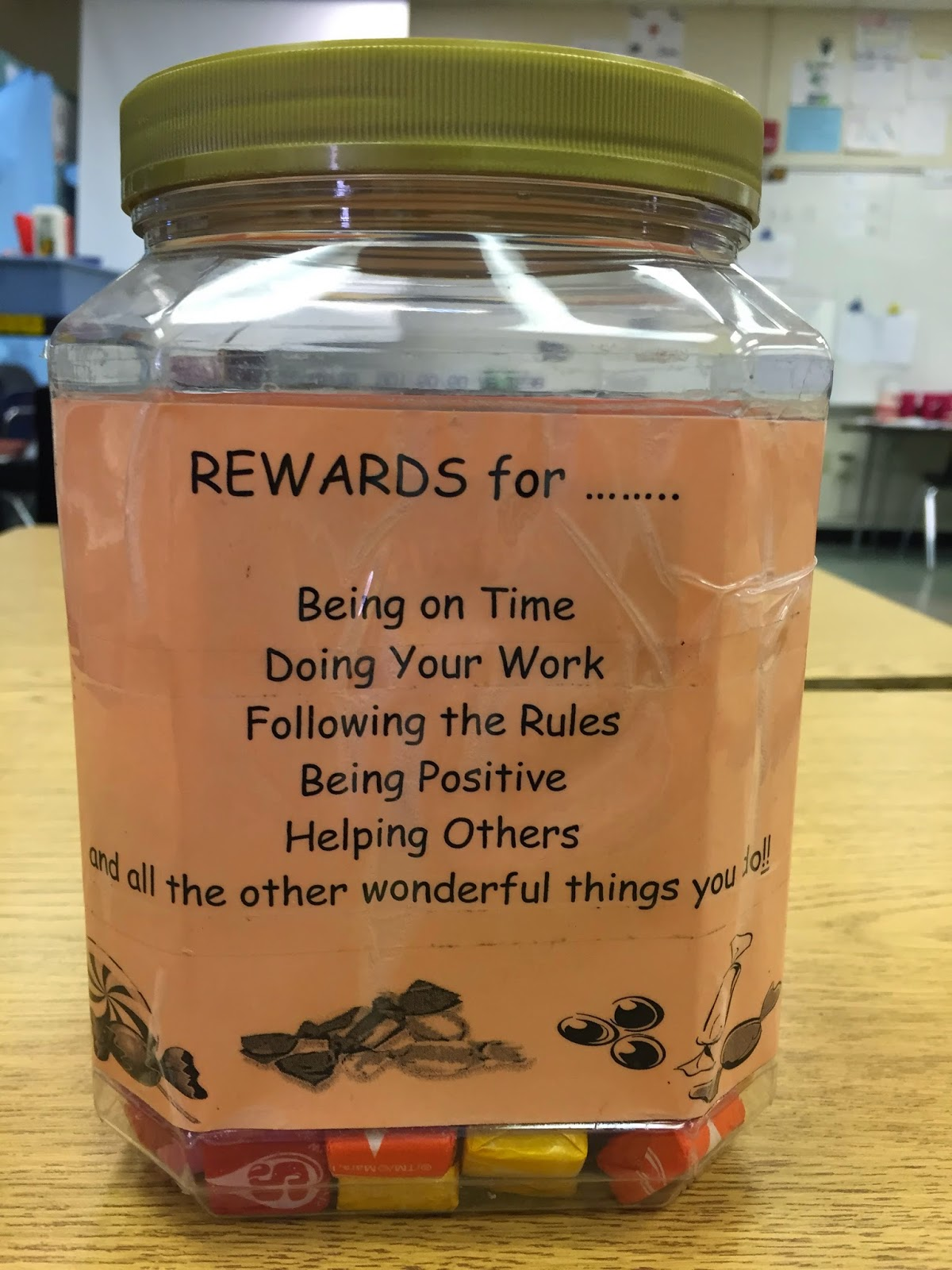 "Students can win a prize from the ""sure thing"" jar or... #teaching #middleschool #classroommanagement"