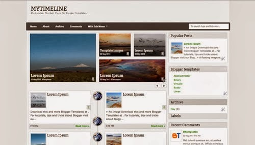 my time line blogger template for news and magazine
