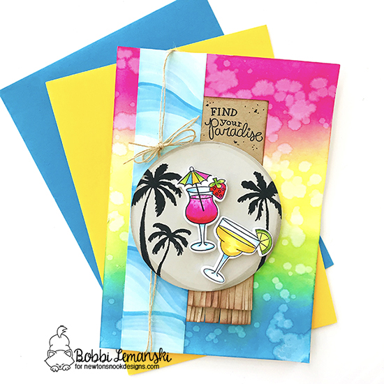 Find you paradise by Bobbi features Paradise Palms and Cocktail Mixer by Newton's Nook Designs; #newtonsnook