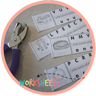hole punching letter recognition activity