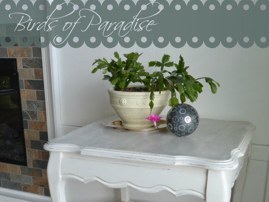 Birds of Paradise French Provincial Tiered Table Makeover