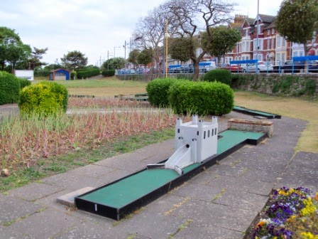 Hole 1 of the South Parade Crazy Golf course in Skegness, Lincolnshire