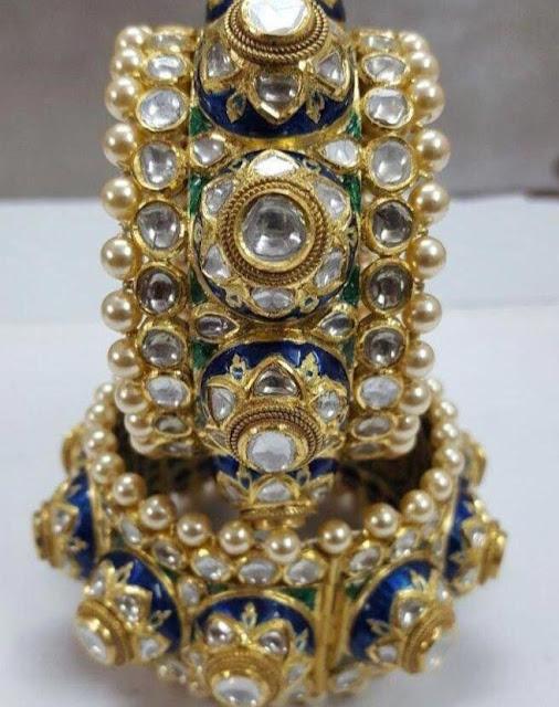 Polki Bangles by Sagar Jewellers