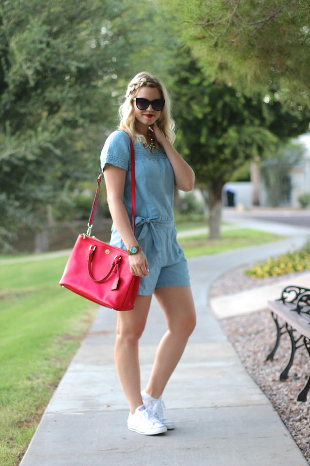 17b811032be Wearing  LOFT romper (love this  23 one!)