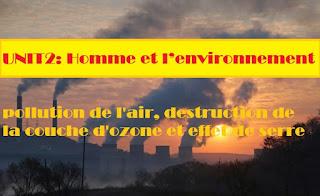 pollution de l'air, destruction de la couche d'ozone et effet de serre