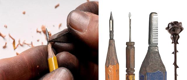 Далтон Гетти (Dalton M. Ghetti) в процессе резьбы по грифелю карандаша - DayDreamer Blog