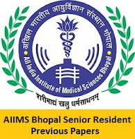 AIIMS Bhopal Senior Resident Previous Papers