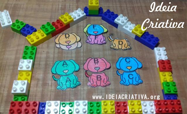 Jogo Pareamento Letras e cores -Centro de estudos cahorrinhos
