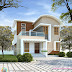 1491 sq-ft mixed roof contemporary 3 BHK house rendering