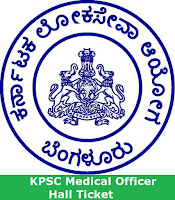 KPSC Medical Officer Hall Ticket